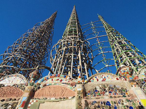 洛杉矶知名文化地标华兹塔