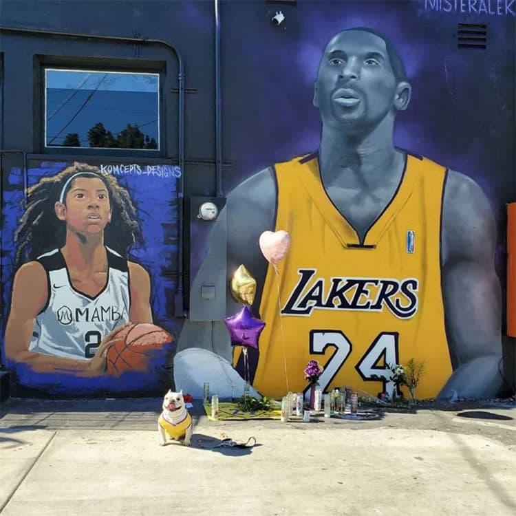 洛杉矶悼念科比布莱恩特街头纪念壁画