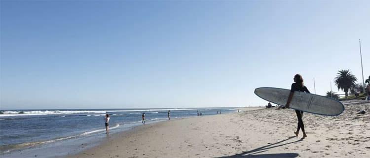 洛杉矶滑雪冲浪两不误市马里布海滩