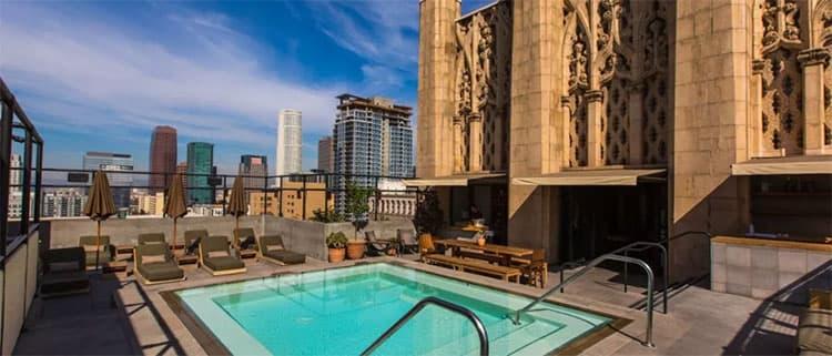 洛杉矶滑雪冲浪两不误市中心一等酒店Ace Hotel